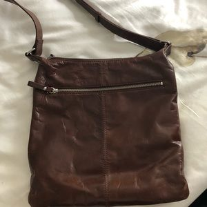 Minimalist Brown Danier Leather Side Purse 👜